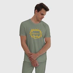 Пижама хлопковая мужская Макс Барских: По секрету цвета авокадо — фото 2