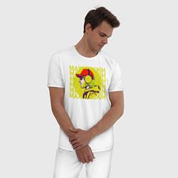Пижама хлопковая мужская Max Barskih цвета белый — фото 2
