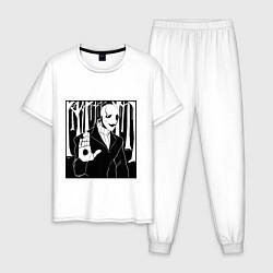 Пижама хлопковая мужская UNDERTALE Z цвета белый — фото 1