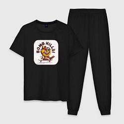 Пижама хлопковая мужская Bomb Hills цвета черный — фото 1