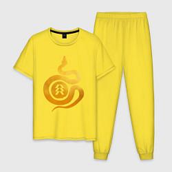 Пижама хлопковая мужская DESTINY 2 GOLD EDITION цвета желтый — фото 1
