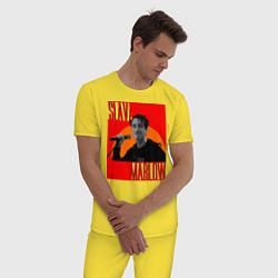 Пижама хлопковая мужская SLAVA MARLOW цвета желтый — фото 2