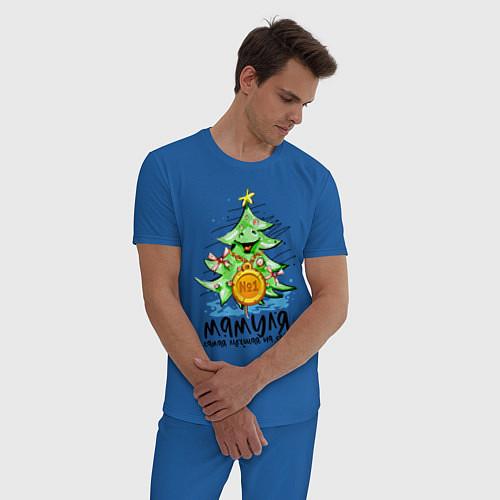 Мужская пижама С Новым Годом / Синий – фото 3