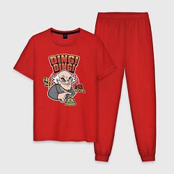 Пижама хлопковая мужская Гектор Саламанка цвета красный — фото 1