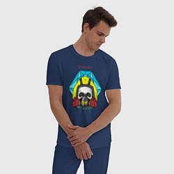 Пижама хлопковая мужская Breaking Bad цвета тёмно-синий — фото 2