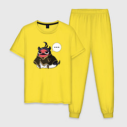Пижама хлопковая мужская Nero bird цвета желтый — фото 1