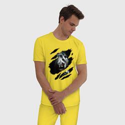 Пижама хлопковая мужская Кен Канеки цвета желтый — фото 2