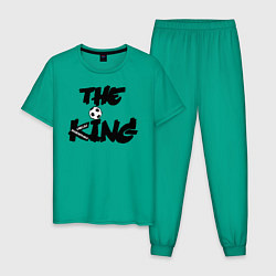 Пижама хлопковая мужская Диего Марадона цвета зеленый — фото 1