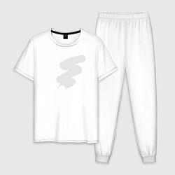 Пижама хлопковая мужская Прозрачность цвета белый — фото 1