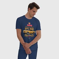 Пижама хлопковая мужская Gasser цвета тёмно-синий — фото 2
