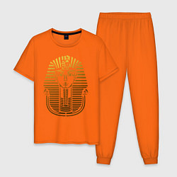 Пижама хлопковая мужская Тутанхамон цвета оранжевый — фото 1
