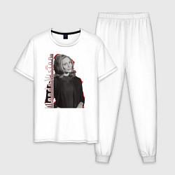 Пижама хлопковая мужская Wanda цвета белый — фото 1