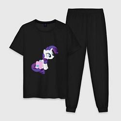 Пижама хлопковая мужская Rarity and Saddlebags цвета черный — фото 1