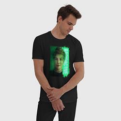 Пижама хлопковая мужская Radioactive цвета черный — фото 2