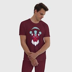Пижама хлопковая мужская Дизраптор Dota 2 цвета меланж-бордовый — фото 2