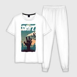 Пижама хлопковая мужская DAYZ ДЕЙЗИ Z цвета белый — фото 1