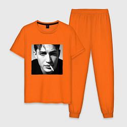 Пижама хлопковая мужская ТОМ ХАРДИ цвета оранжевый — фото 1