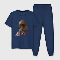 Пижама хлопковая мужская J?ger Rainbow Six Art 02 цвета тёмно-синий — фото 1