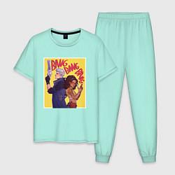 Пижама хлопковая мужская Banf Bang Team цвета мятный — фото 1
