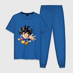 Пижама хлопковая мужская Dragon ball цвета синий — фото 1