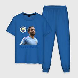 Пижама хлопковая мужская Silva Bernardo Манчестер Сити цвета синий — фото 1