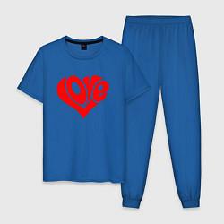 Пижама хлопковая мужская ЛЮБОВЬ LOVE Z цвета синий — фото 1