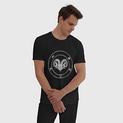 Пижама хлопковая мужская CH Devil цвета черный — фото 2