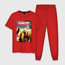 Пижама хлопковая мужская FARCRY TROPIC 3 цвета красный — фото 1