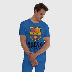 Пижама хлопковая мужская Barcelona Football Club цвета синий — фото 2