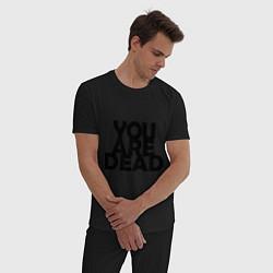 Пижама хлопковая мужская DayZ: You are Dead цвета черный — фото 2