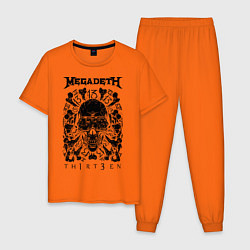 Пижама хлопковая мужская Megadeth Thirteen цвета оранжевый — фото 1