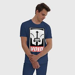 Пижама хлопковая мужская Faceless Void Poster цвета тёмно-синий — фото 2