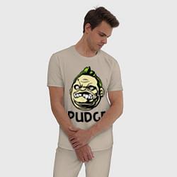 Пижама хлопковая мужская Pudge Face цвета миндальный — фото 2