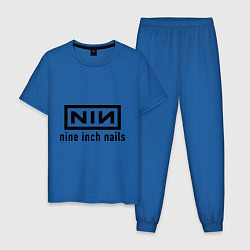 Пижама хлопковая мужская NIN: Nine inch nails цвета синий — фото 1