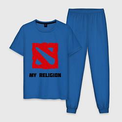 Пижама хлопковая мужская Dota 2: My Religion цвета синий — фото 1