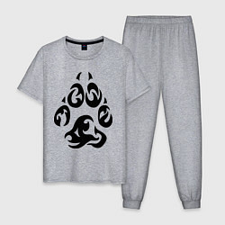 Пижама хлопковая мужская Волчий след цвета меланж — фото 1