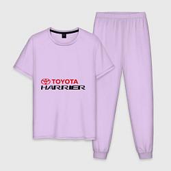 Пижама хлопковая мужская Toyota Harrier цвета лаванда — фото 1