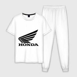 Пижама хлопковая мужская Honda Motor цвета белый — фото 1