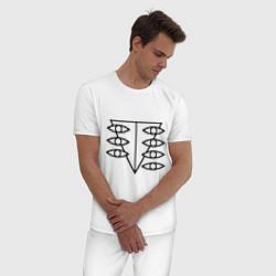 Пижама хлопковая мужская Евангелион цвета белый — фото 2