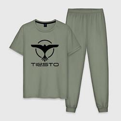 Пижама хлопковая мужская Tiesto цвета авокадо — фото 1