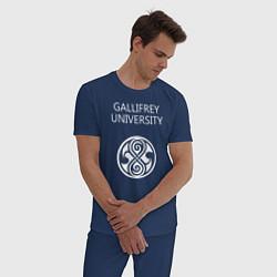 Пижама хлопковая мужская Galligrey University цвета тёмно-синий — фото 2