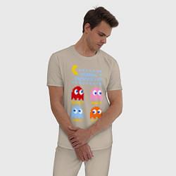 Пижама хлопковая мужская Pac-Man: Usual Suspects цвета миндальный — фото 2