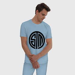 Пижама хлопковая мужская SoloMid цвета мягкое небо — фото 2
