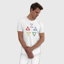Пижама хлопковая мужская Witcher 3 знаки цвета белый — фото 2