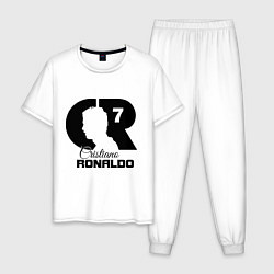 Пижама хлопковая мужская CR Ronaldo 07 цвета белый — фото 1