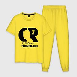 Пижама хлопковая мужская CR Ronaldo 07 цвета желтый — фото 1