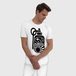 Пижама хлопковая мужская Subaru цвета белый — фото 2