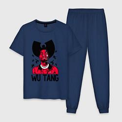 Пижама хлопковая мужская Wu-Tang Insects цвета тёмно-синий — фото 1