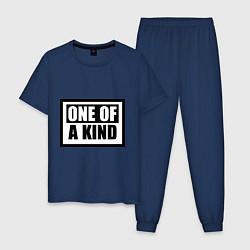 Пижама хлопковая мужская One of a kind цвета тёмно-синий — фото 1