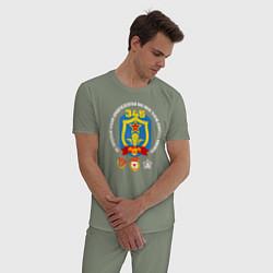 Пижама хлопковая мужская 345 ПДП ВДВ цвета авокадо — фото 2